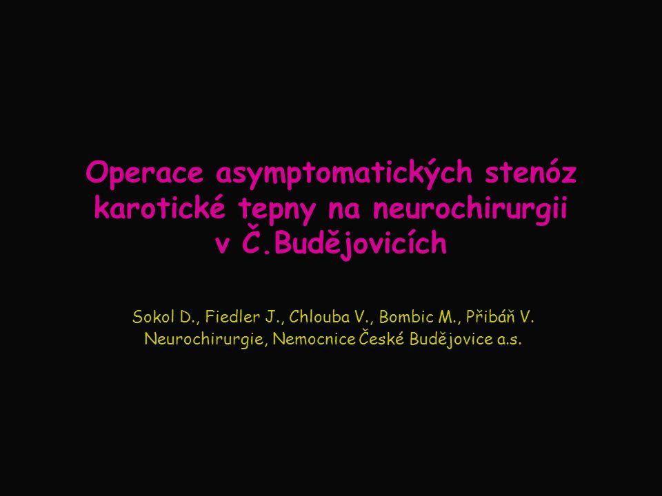 Operace asymptomatických stenóz karotické tepny na neurochirurgii v Č