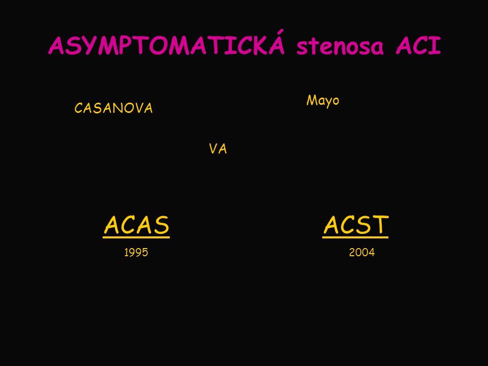 ASYMPTOMATICKÁ stenosa ACI