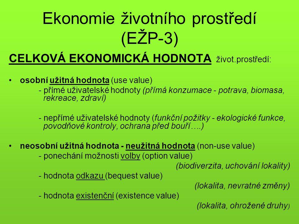 Ekonomie životního prostředí (EŽP-3)