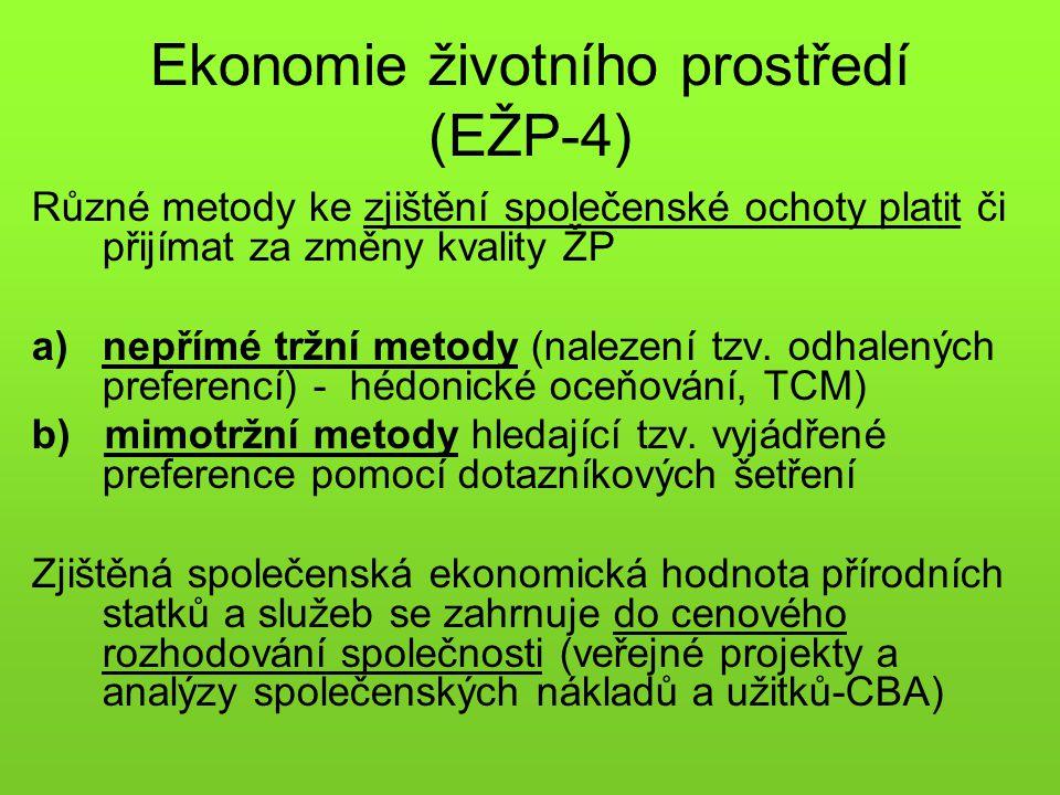 Ekonomie životního prostředí (EŽP-4)