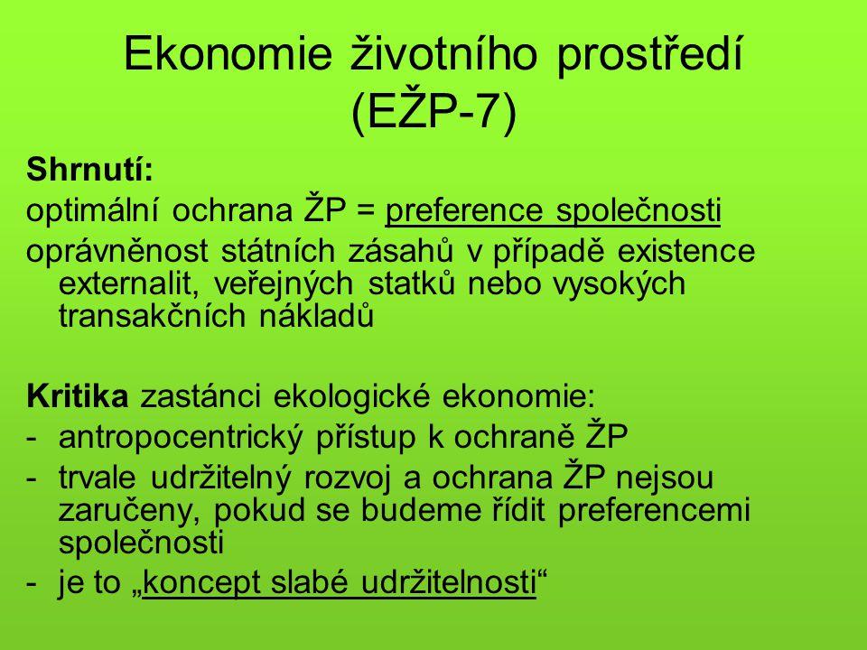 Ekonomie životního prostředí (EŽP-7)