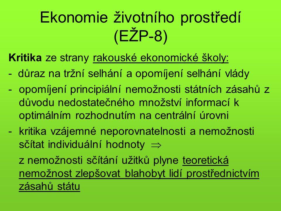 Ekonomie životního prostředí (EŽP-8)