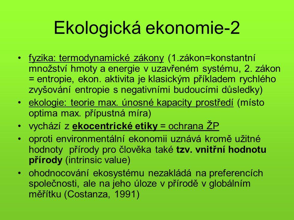 Ekologická ekonomie-2