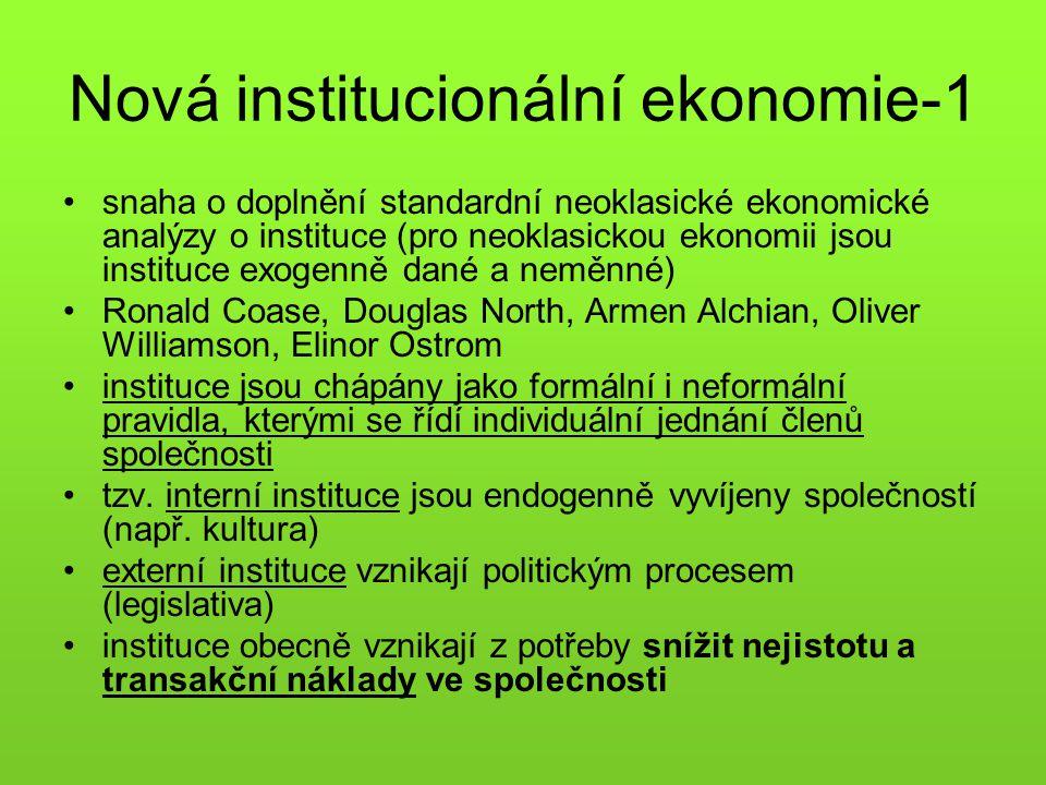 Nová institucionální ekonomie-1