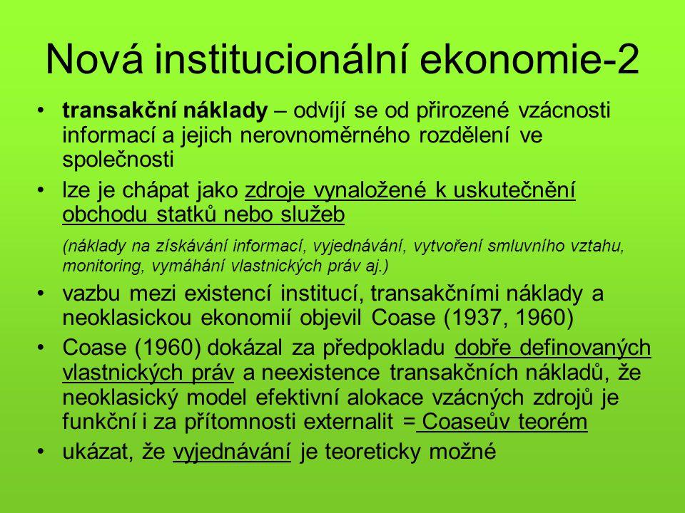 Nová institucionální ekonomie-2