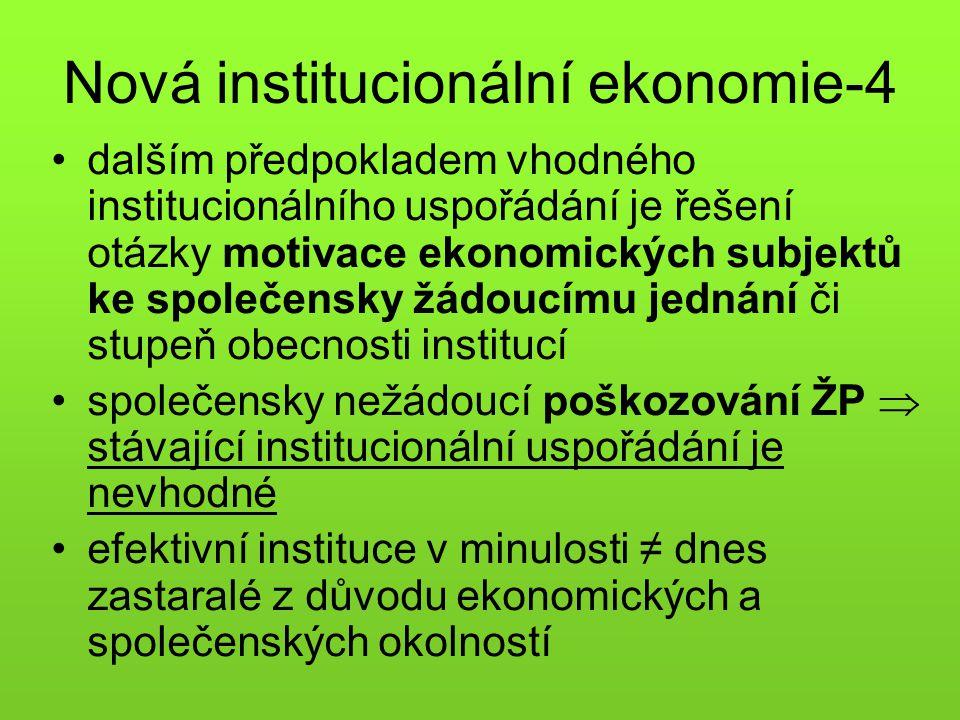Nová institucionální ekonomie-4