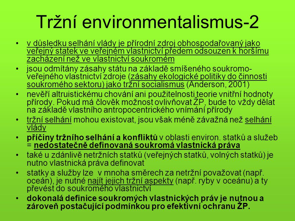 Tržní environmentalismus-2