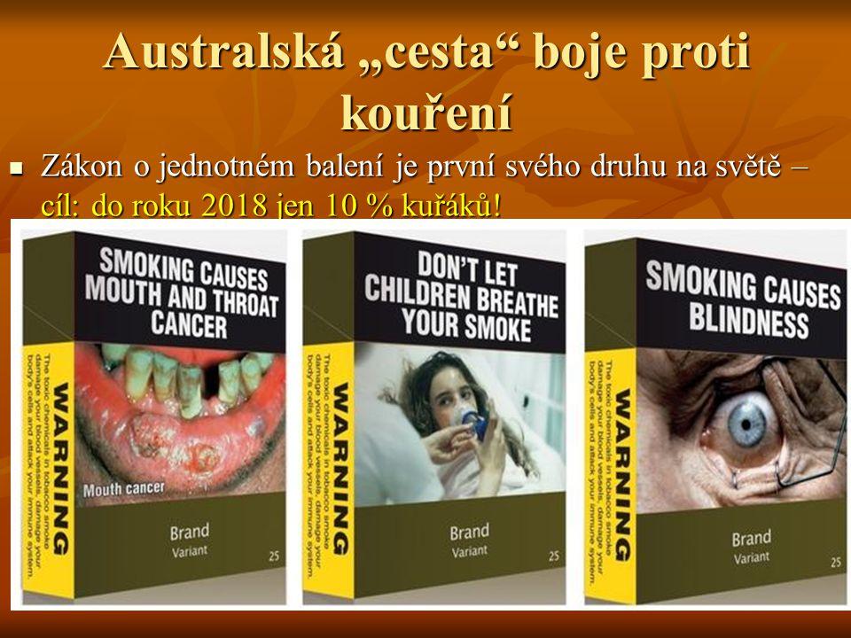 """Australská """"cesta boje proti kouření"""