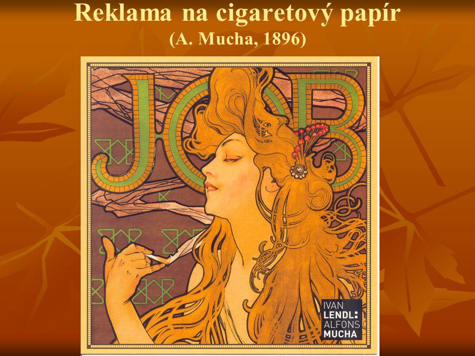 Reklama na cigaretový papír (A. Mucha, 1896)