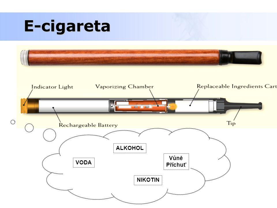 E-cigareta ALKOHOL Vůně Příchuť VODA NIKOTIN