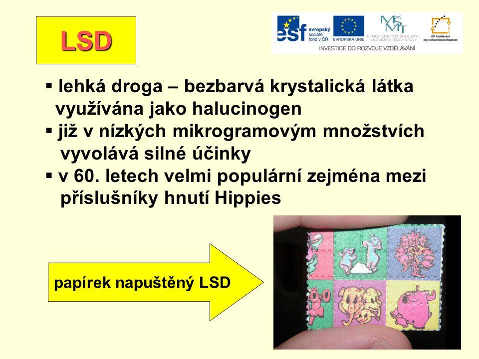 LSD lehká droga – bezbarvá krystalická látka