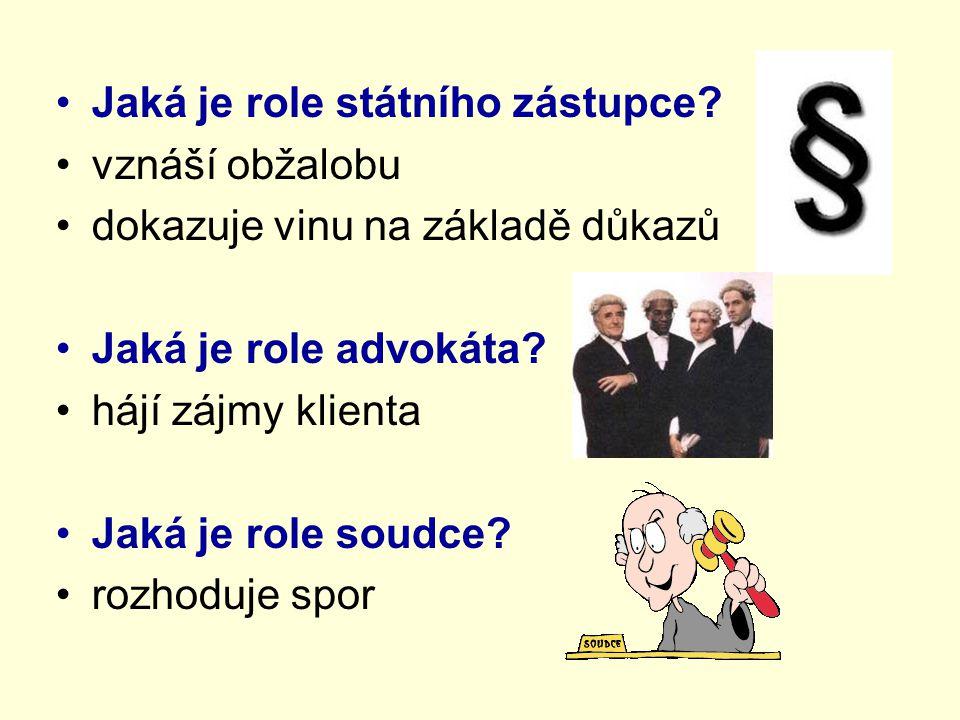 Jaká je role státního zástupce