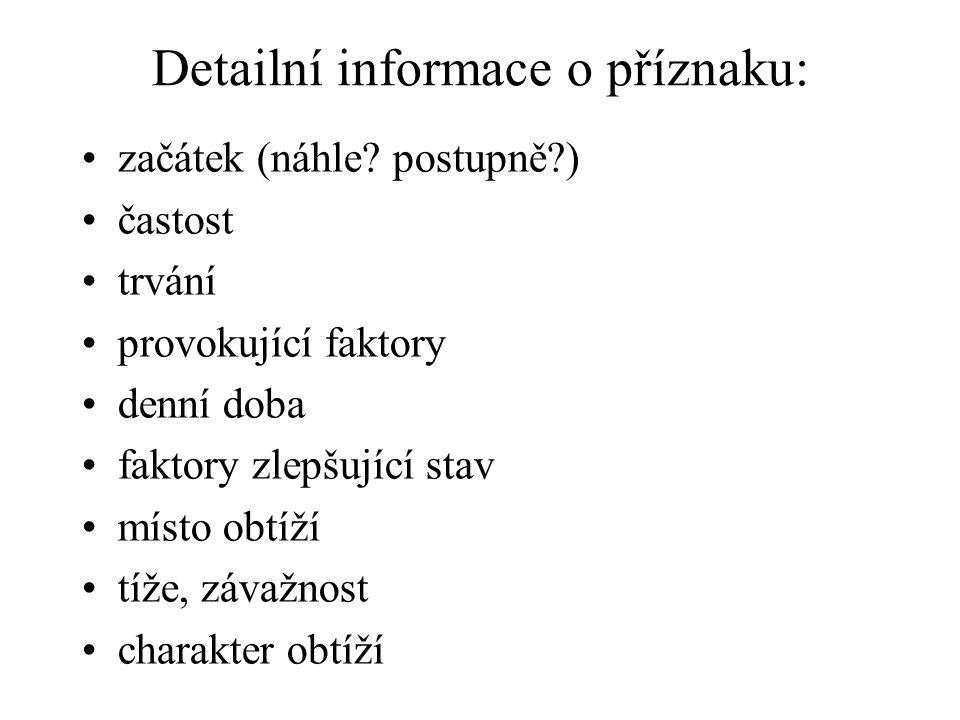 Detailní informace o příznaku: