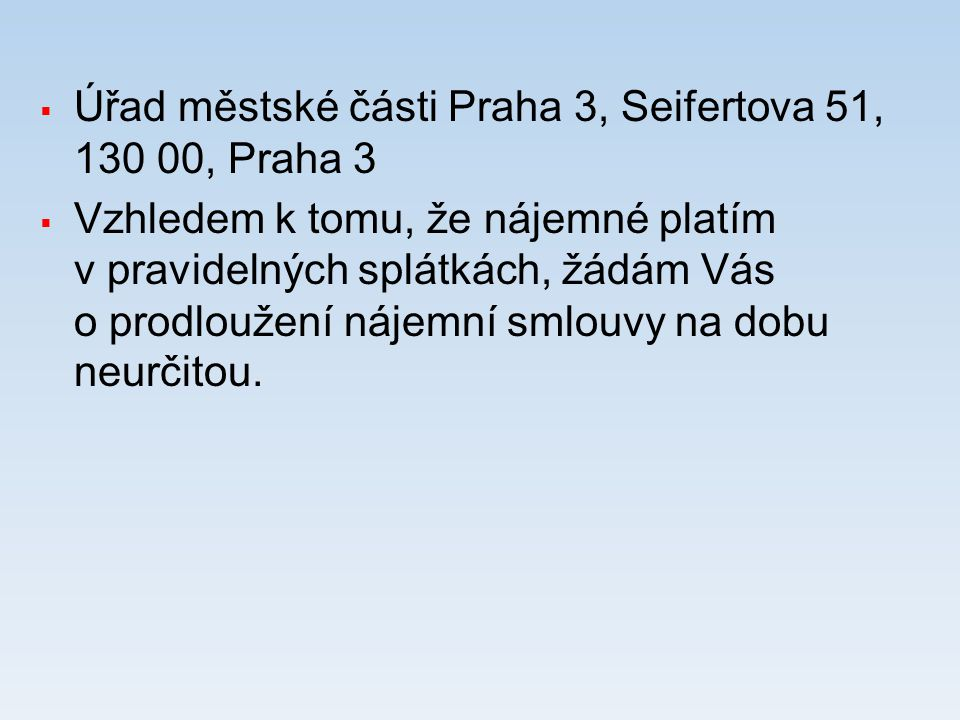 Úřad městské části Praha 3, Seifertova 51, 130 00, Praha 3