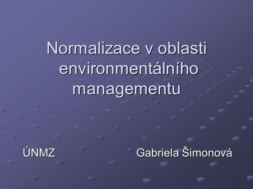 Normalizace v oblasti environmentálního managementu