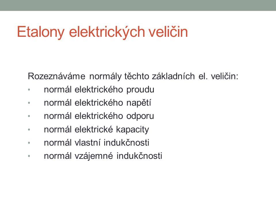 Etalony elektrických veličin