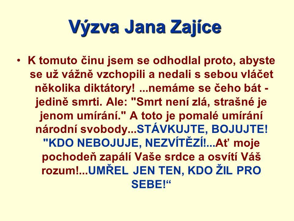 Výzva Jana Zajíce