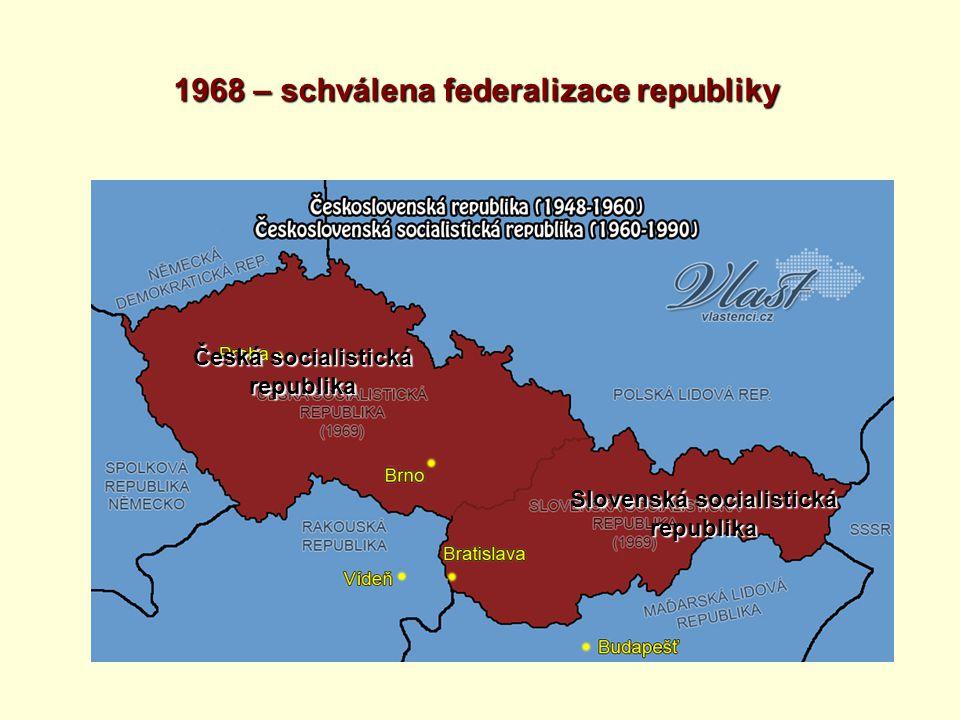 1968 – schválena federalizace republiky