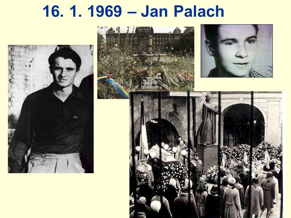 16. 1. 1969 – Jan Palach