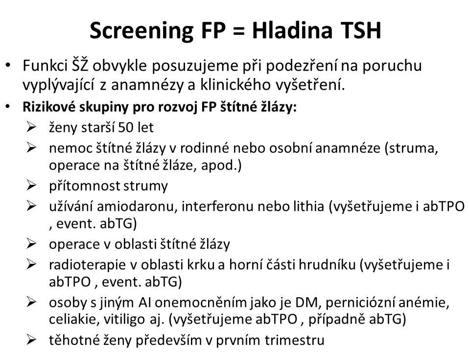 Screening FP = Hladina TSH