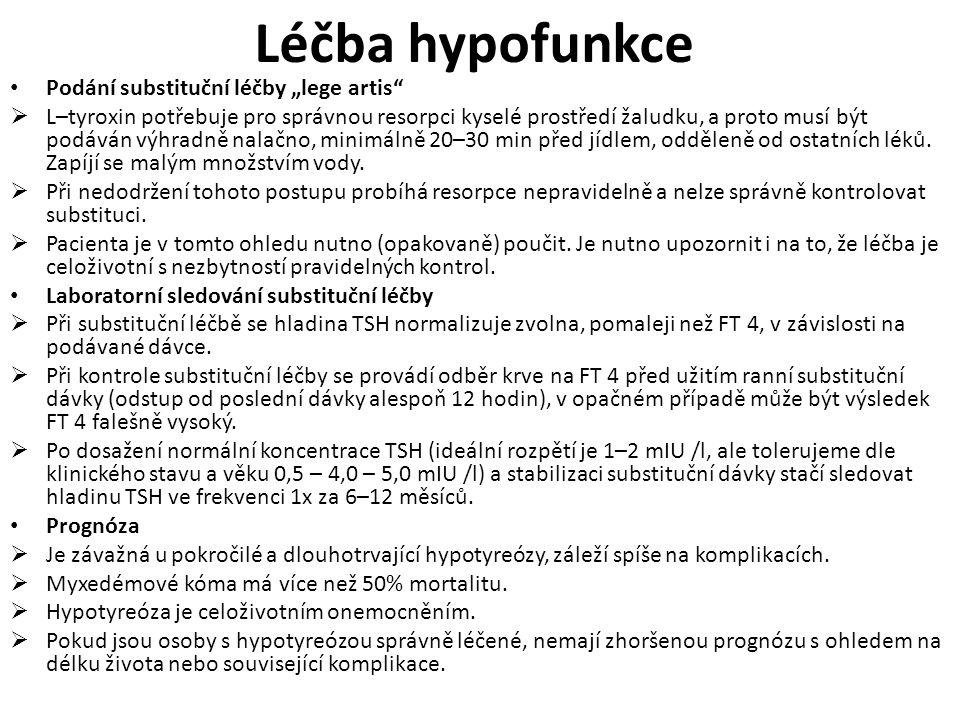 """Léčba hypofunkce Podání substituční léčby """"lege artis"""