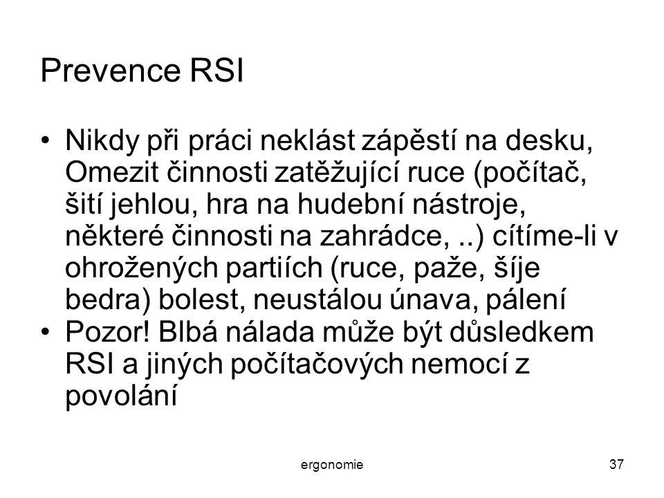 Prevence RSI