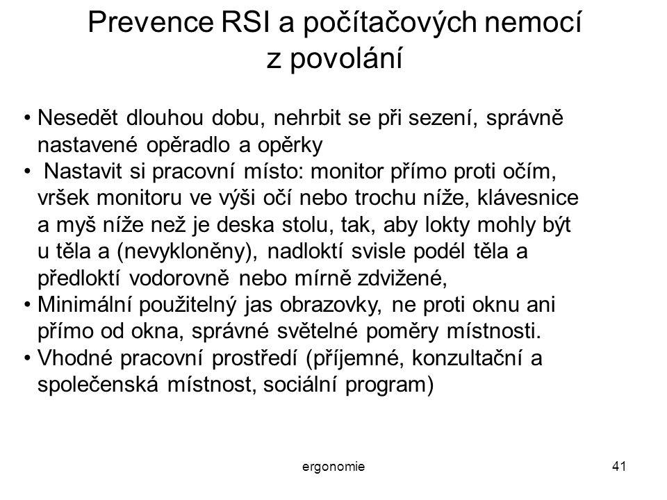 Prevence RSI a počítačových nemocí z povolání