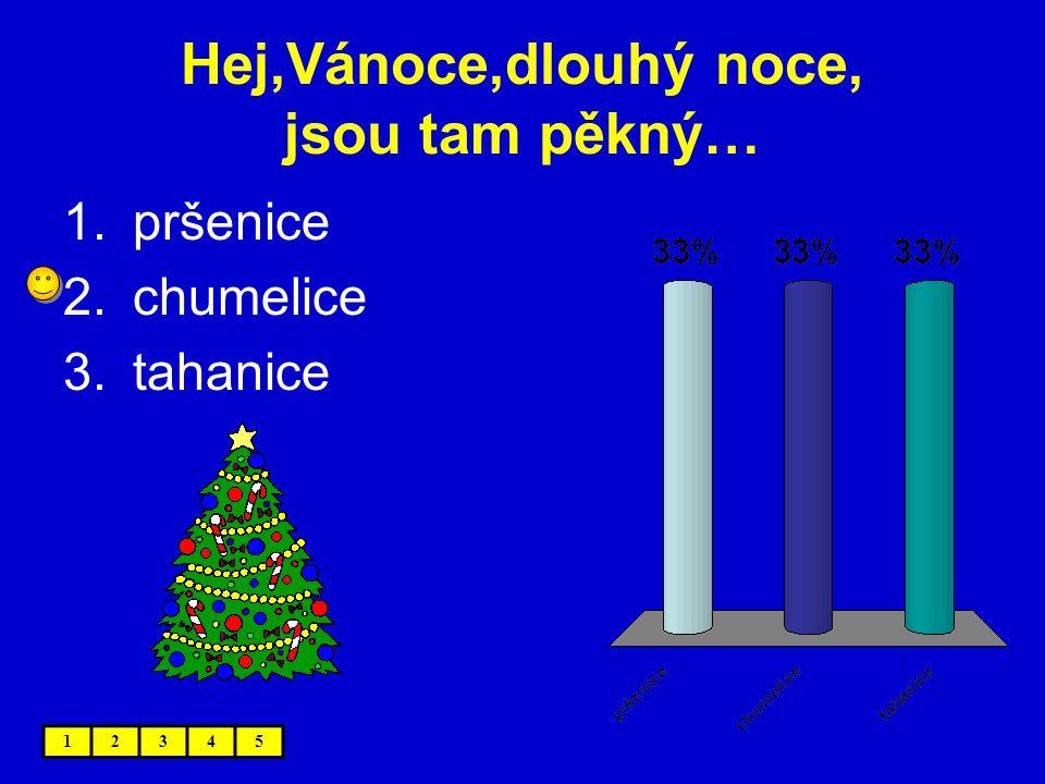 Hej,Vánoce,dlouhý noce, jsou tam pěkný…