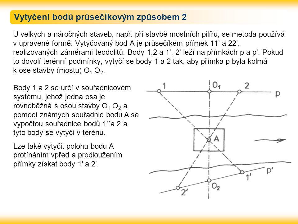 Vytyčení bodů průsečíkovým způsobem 2