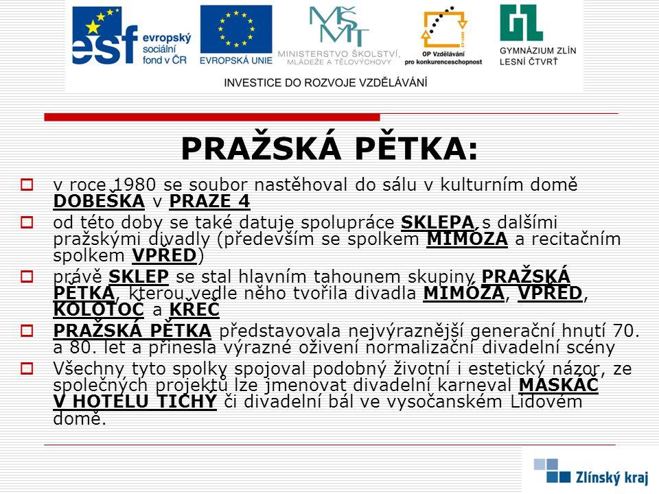 PRAŽSKÁ PĚTKA: v roce 1980 se soubor nastěhoval do sálu v kulturním domě DOBEŠKA v PRAZE 4.