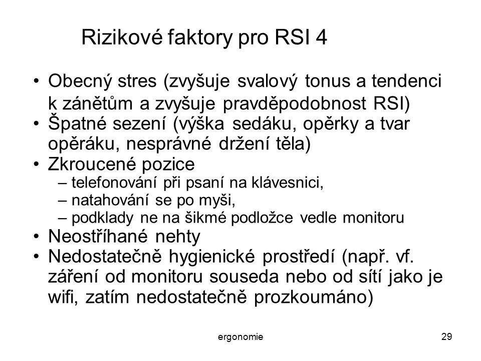 Rizikové faktory pro RSI 4