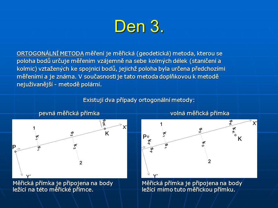 Existují dva případy ortogonální metody: