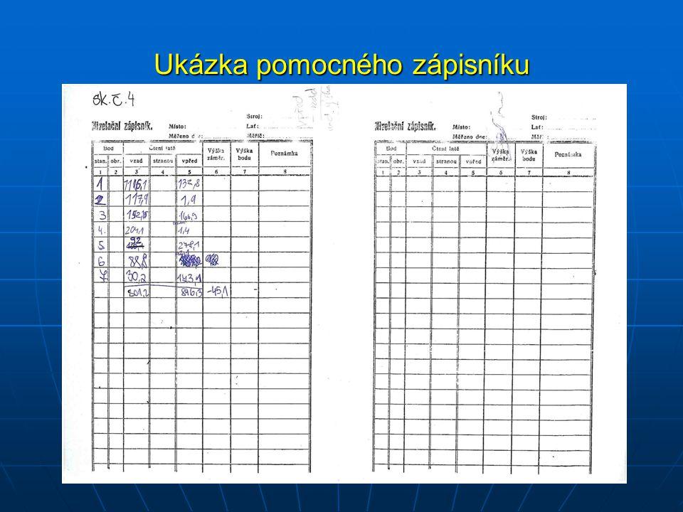 Ukázka pomocného zápisníku