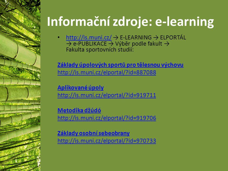 Informační zdroje: e-learning