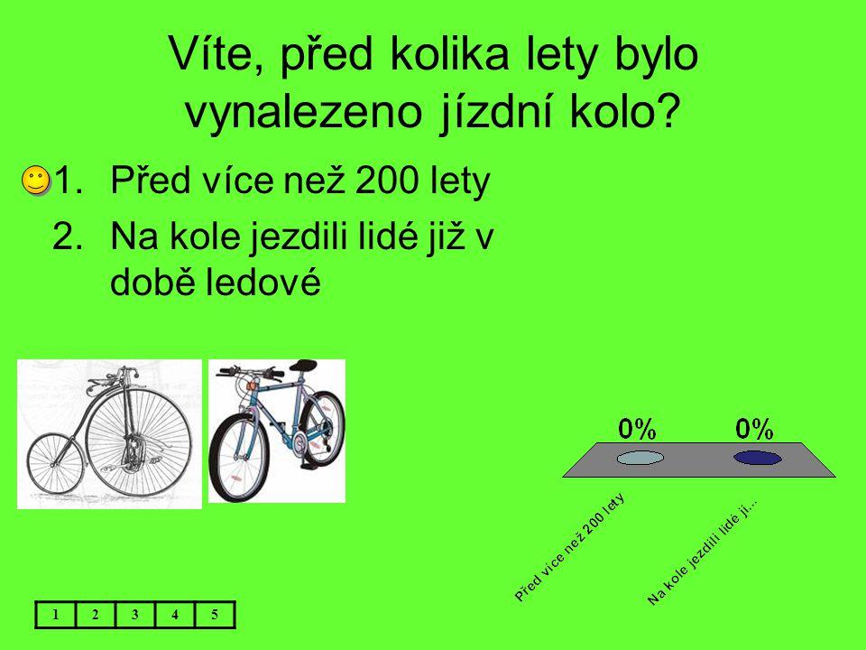 Víte, před kolika lety bylo vynalezeno jízdní kolo