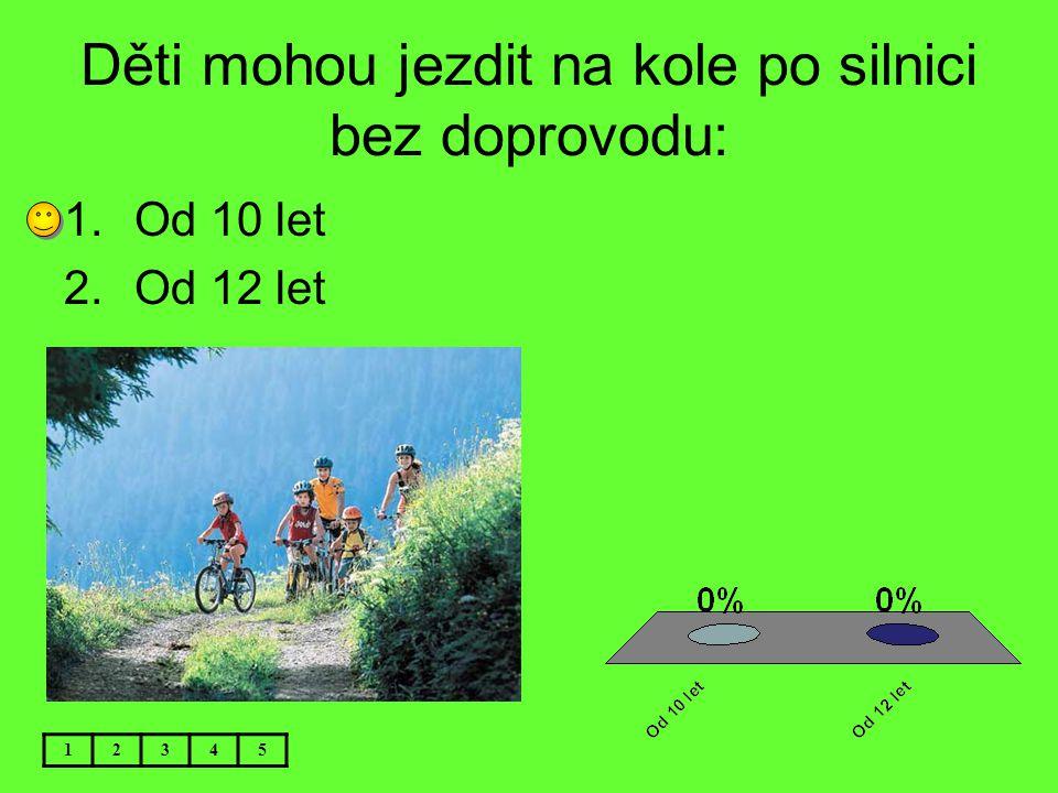 Děti mohou jezdit na kole po silnici bez doprovodu: