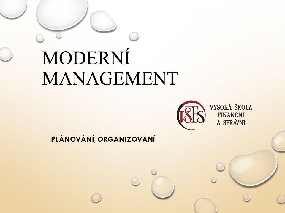 Plánování, organizování