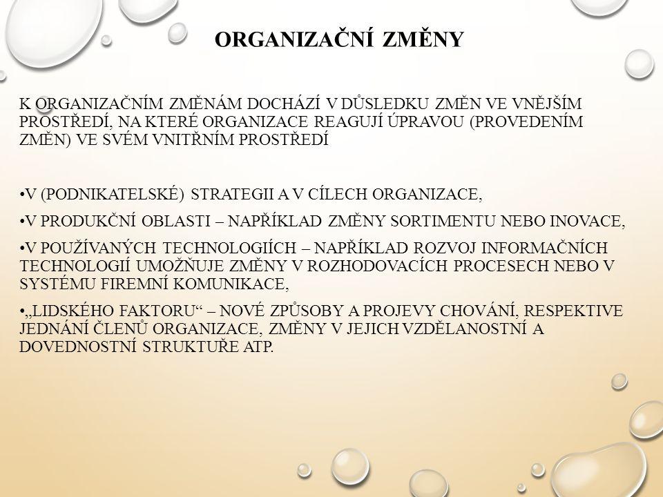 Organizační změny