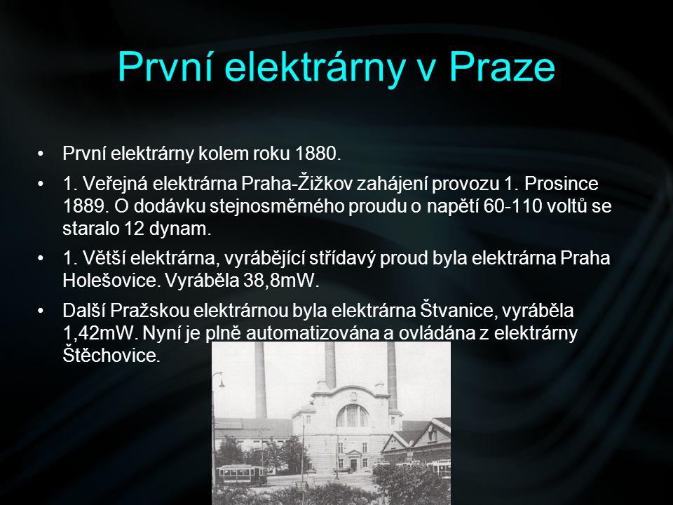 První elektrárny v Praze