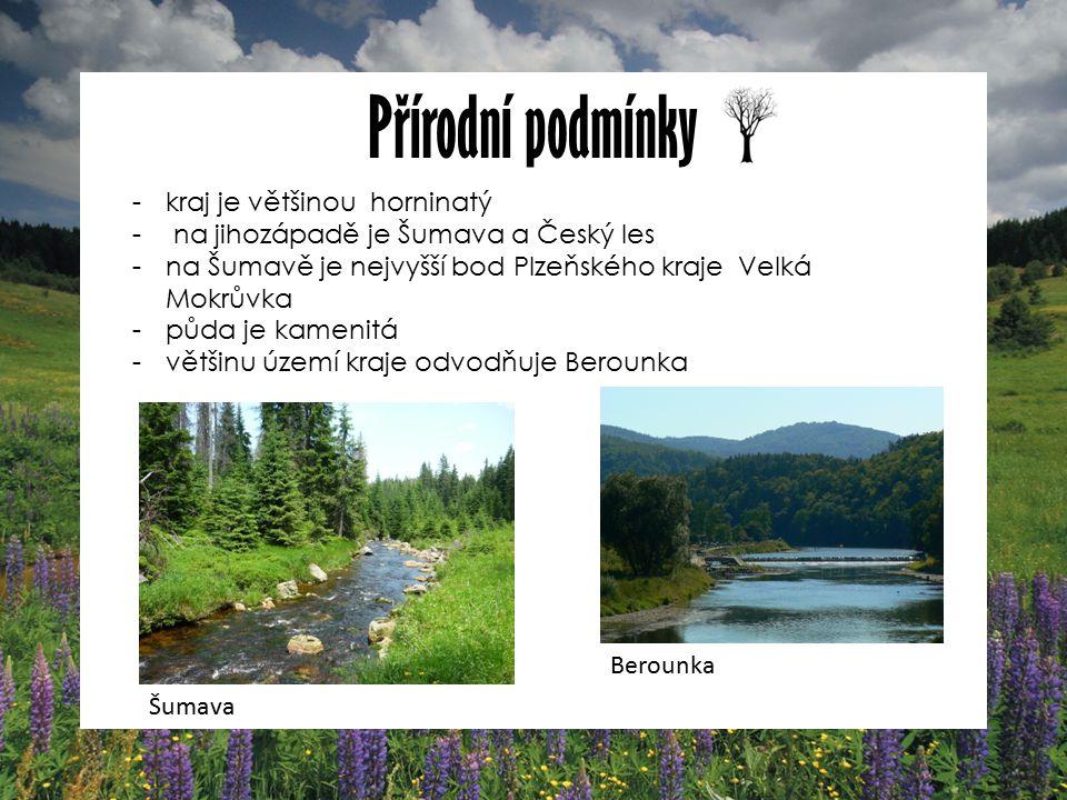Přírodní podmínky kraj je většinou horninatý