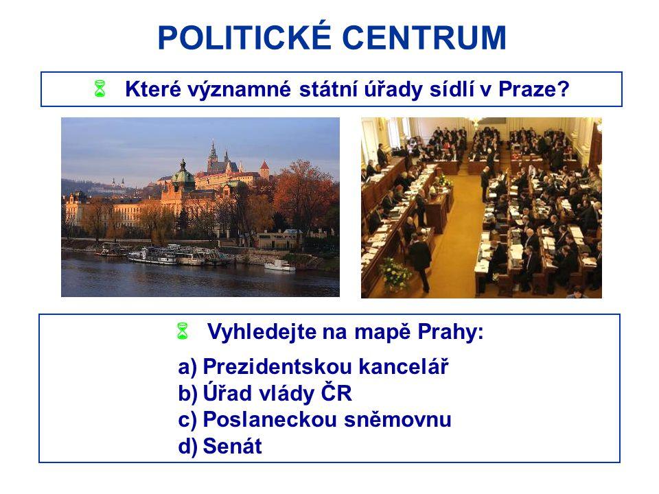 POLITICKÉ CENTRUM  Které významné státní úřady sídlí v Praze