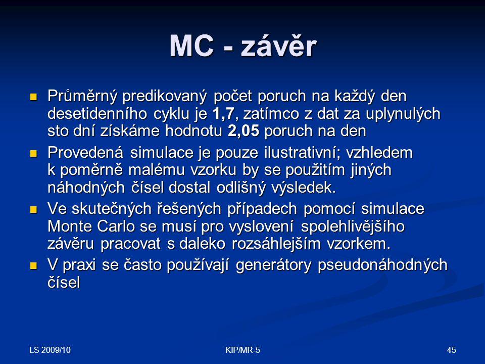 MC - závěr