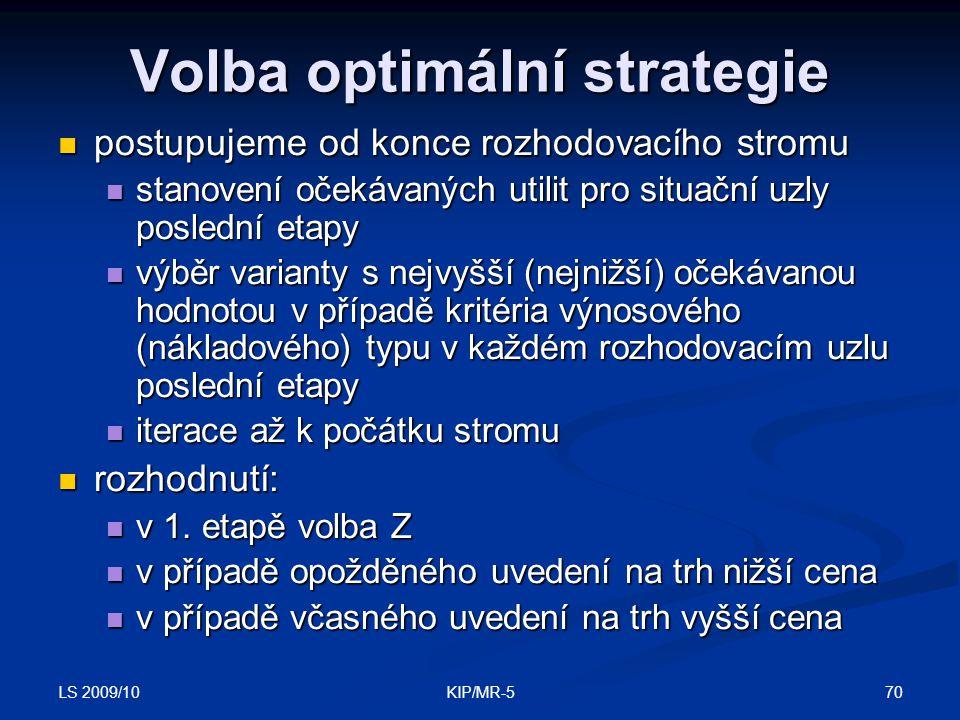 Volba optimální strategie