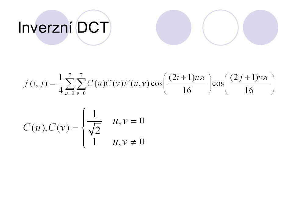Inverzní DCT