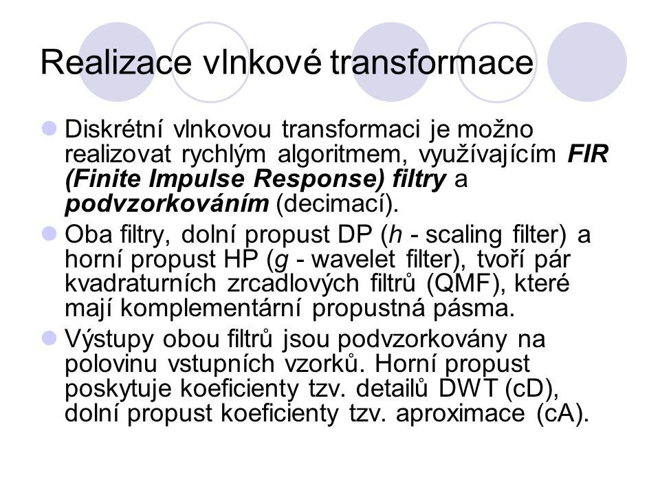 Realizace vlnkové transformace