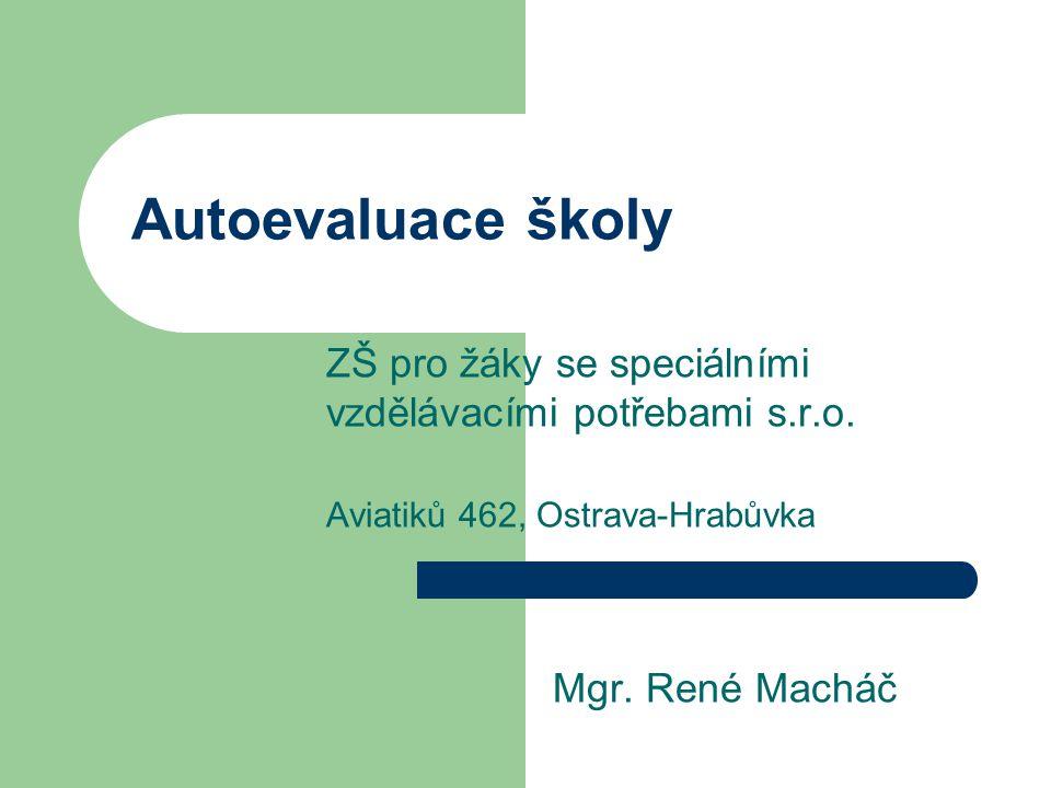Autoevaluace školy ZŠ pro žáky se speciálními vzdělávacími potřebami s.r.o. Aviatiků 462, Ostrava-Hrabůvka.