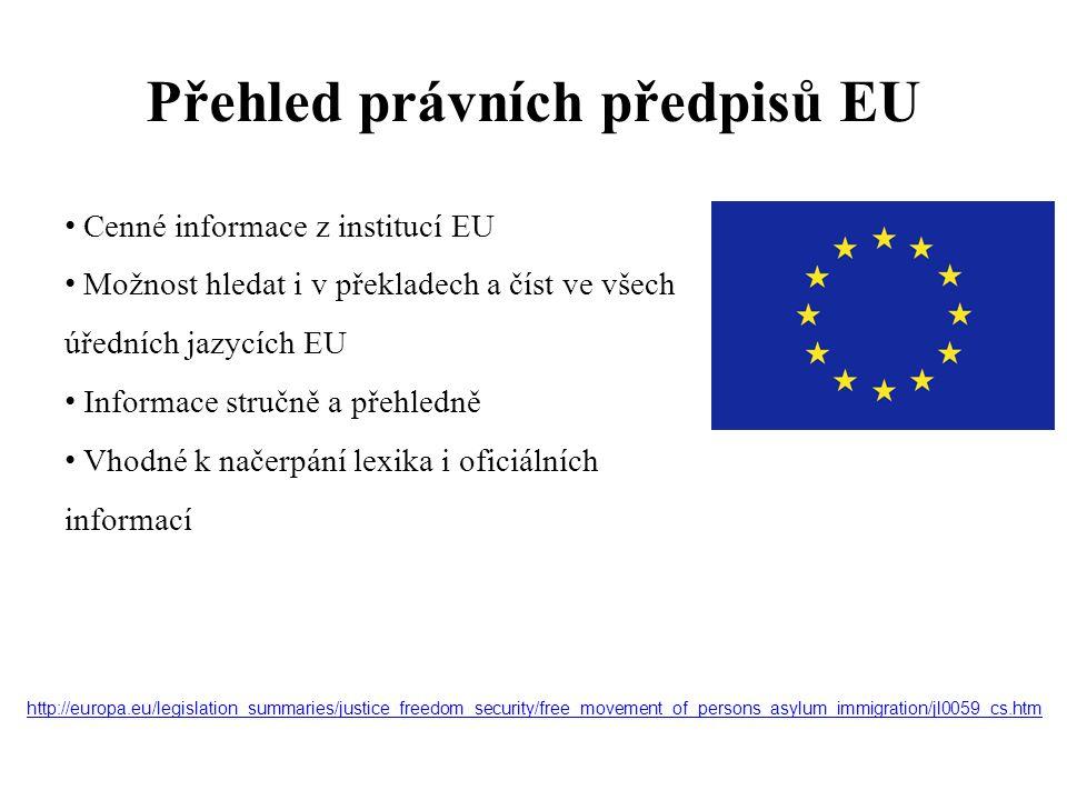 Přehled právních předpisů EU