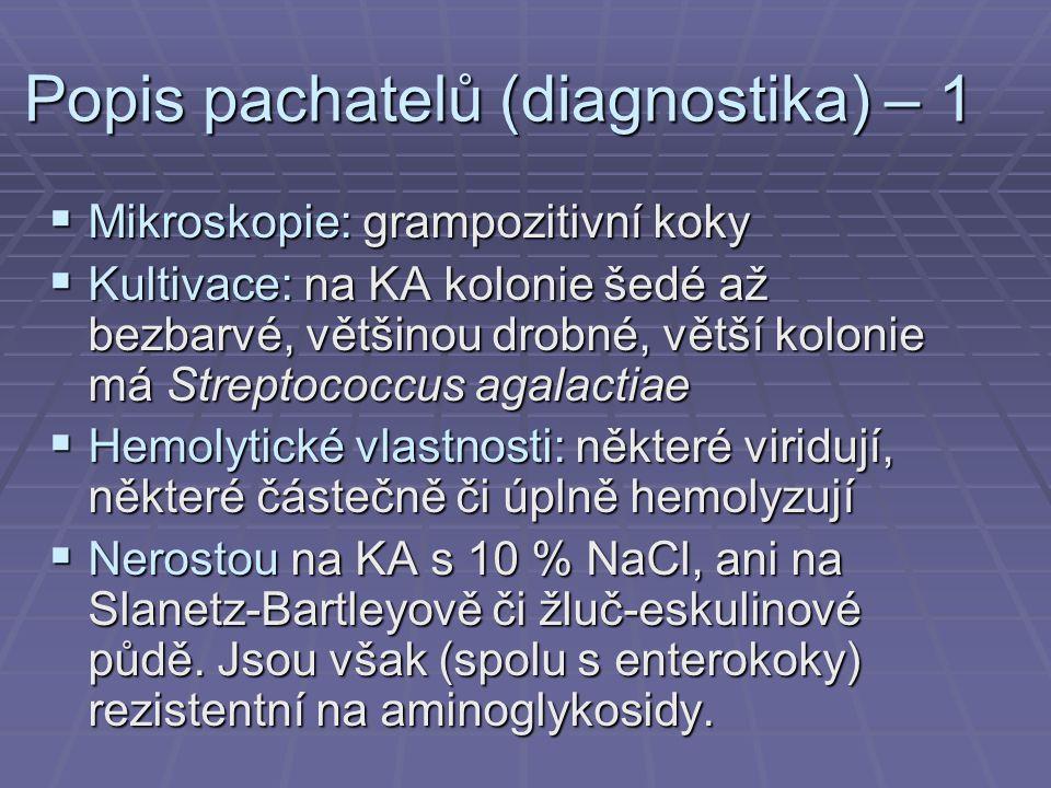 Popis pachatelů (diagnostika) – 1