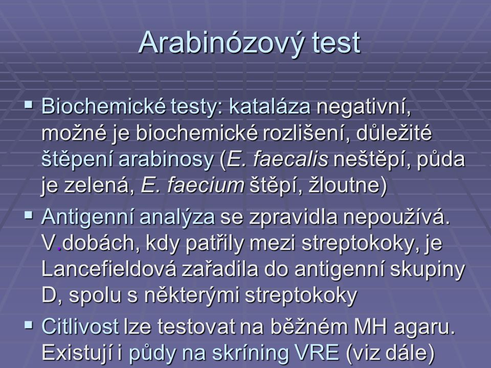 Arabinózový test