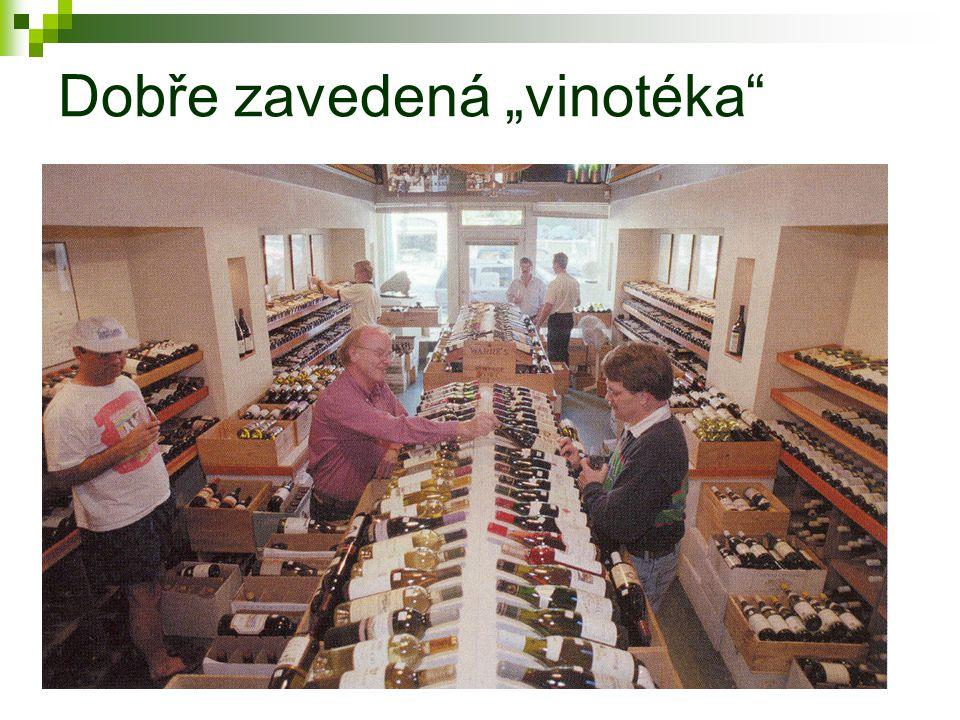 """Dobře zavedená """"vinotéka"""